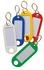 Porte-cles etiquette avec fenetre - Plastique