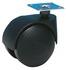 Roulette Twiny noire a platine pivotante